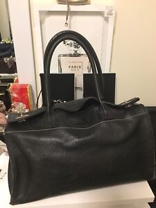 Authentic Tod's large caviar leather bag