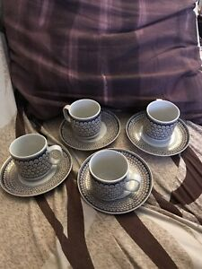 Set of 6 espresso cups and 6 saucers