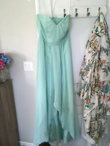 David's Bridal - size 8 mint bridesmaid dress