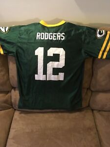 Youth Green Bay Packers Aaron Rodgers Jersey Size L/XL