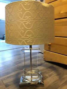 Glass and silver lamp