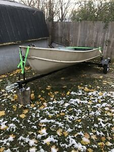 12' Aluminum boat and sling trailer