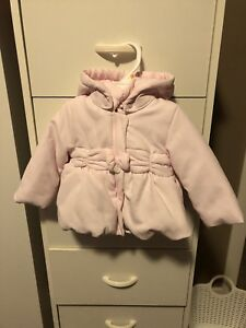 Light pink baby winter jacket