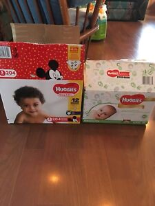 Huggies size 3 & natural huggies wipes