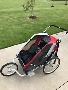 Double Jogging and Bike Chariot Cougar 2 Stroller
