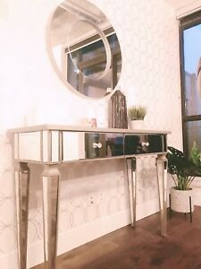 Beautiful mirror console table $600