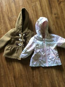 2 6-12 month baby girl jackets