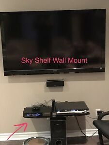 Sky Shelf Wall Mount Double Wide Glass Shelf