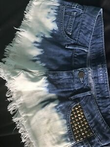 Ombre bleached and studded Guess woman's shorts size 23