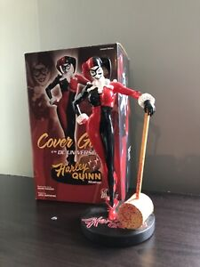 dc comics cover girl statues harley quinn and Cat woman
