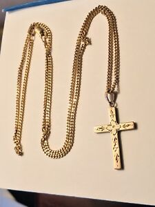 10k Gold Necklace/Chain and cross