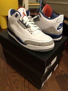 "Air Jordan 3 Retro ""True Blue"" size 12 DS"
