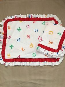 2 Pillow shams for child's bed