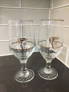 Petro Canada 1988 Olympic Gold Plated Glasses - set of 14