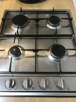 Natural gas 4 burner cooktop