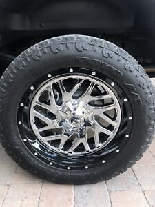 "Fuel 22"" Rim & 35""Tire Combo for Ford F-250"