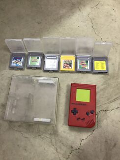 Nintendo game boy with 6 games included $70