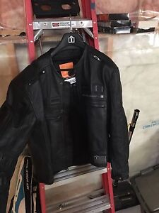 Icon men's leather XL motorcycle jacket