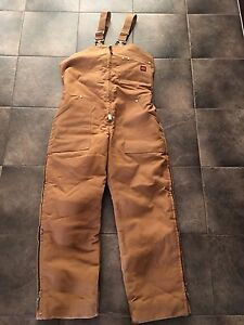 Insulated Work Overall Bibs Size LRG
