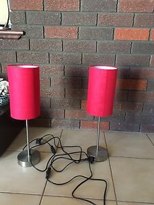 Red lamps-$5 ea Gosnells Gosnells Area Preview