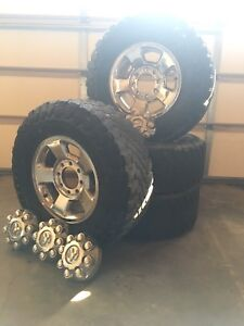 Used Toyo Open Country All Terrain Tires on Dodge Ram Rims
