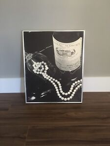 Wine and pearls picture/wall hanging