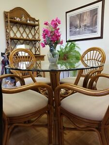 Price reduction!  REAL Bamboo Dining Set Plus Hutch