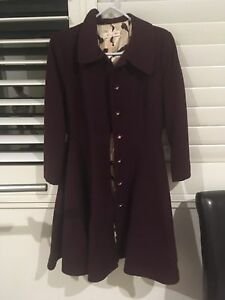 Alannah Hill winter coat purple size 12 Auchenflower Brisbane North West Preview