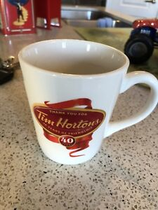 Tim Hortons 40th Anniversary Limited Edition N 004 Coffee Mug