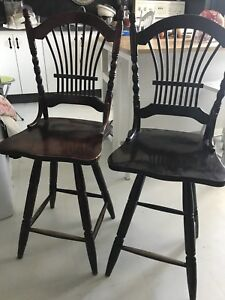 2 antique swivel bar stools..need TLC a great DIY project
