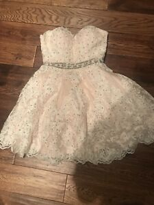 Beaded and lace party dress size 4