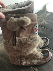SNOWY OWL MUKLUK BOOTS