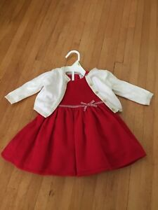 Christmas baby dress with cardigan