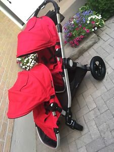 Beautiful double red city select stroller