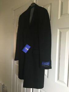 $200 Brand New with tags Men's overcoat / topcoat Black Wool