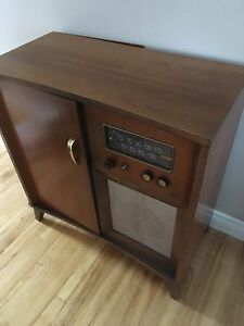 Antique, Radio and record player cabinet
