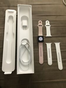 38mm Rose gold Apple Watch series's 3 LTE