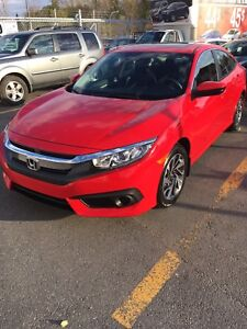 2017 Civic EX lease takeover *900$ INCENTIVE!*  Reprise de bail!