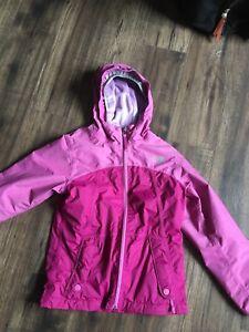 Girls north face lined jacket, size medium (10/12)