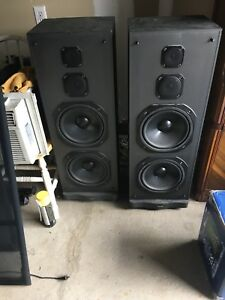 Pair of Sharp Tower Speakers