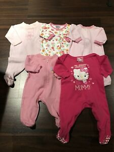 LOT 5 pyjamas 3-6 mois fille