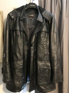 Men's Daniel leather car coat