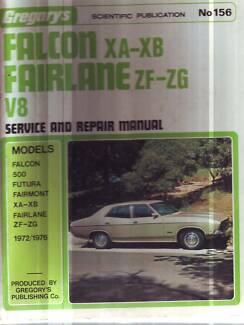 FORD FALCON XA XB V8 SEDAN/COUPE SERVICE WORKSHOP MANUAL  1972-76
