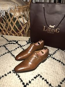Tan Loding Single-Monk strap shoes for sale