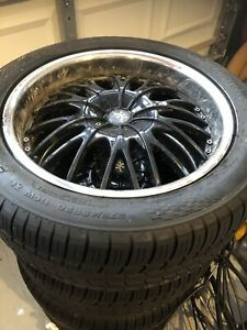 4 aftermarket rims wheel universal