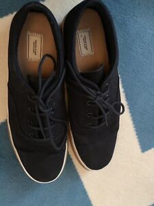 Souliers Frank And Oak - Cotton Canvas Lace-Up Sneaker in Black