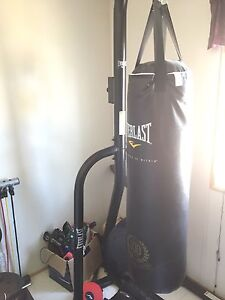Heavy bag and speed bag stand