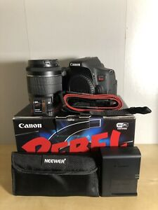 Canon T6i with extra battery, 64gb SD, 3 ND Filters
