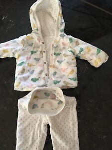 Reversible Baby Boden two piece sweatsuit- baby girls 3-6m