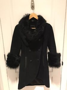 Mackage Winter Sheepskin Wool Coat with Fur colour and sleeves